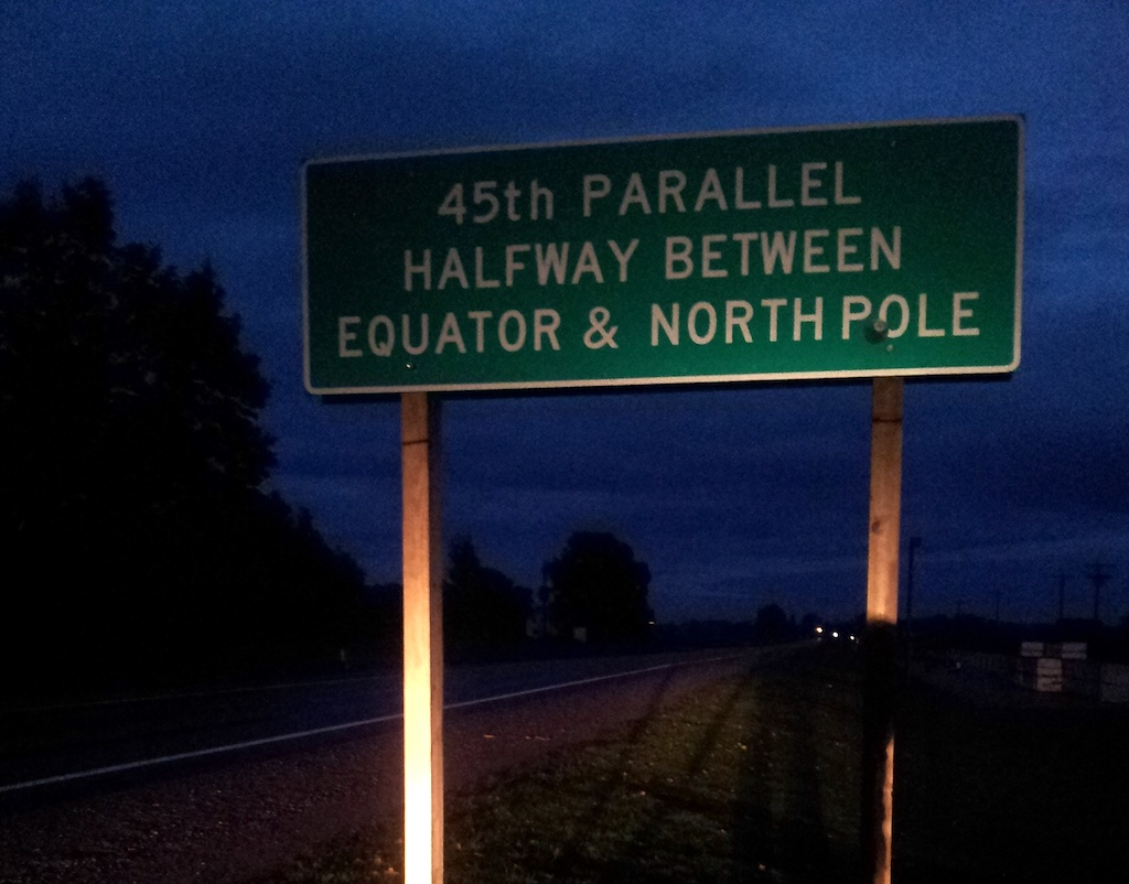 45th Parallel Marker, Torch Lake, Michigan