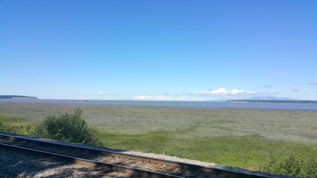 Anchorage, Alaska USA - Spectacular views from Elder Berry Park