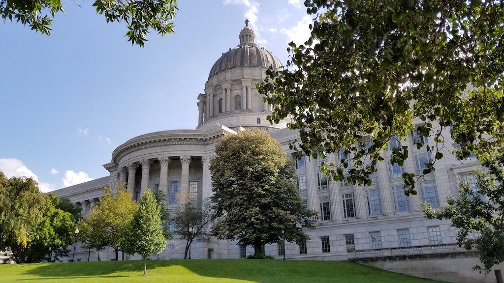 Jefferson City, Missouri USA - State Capitol Front