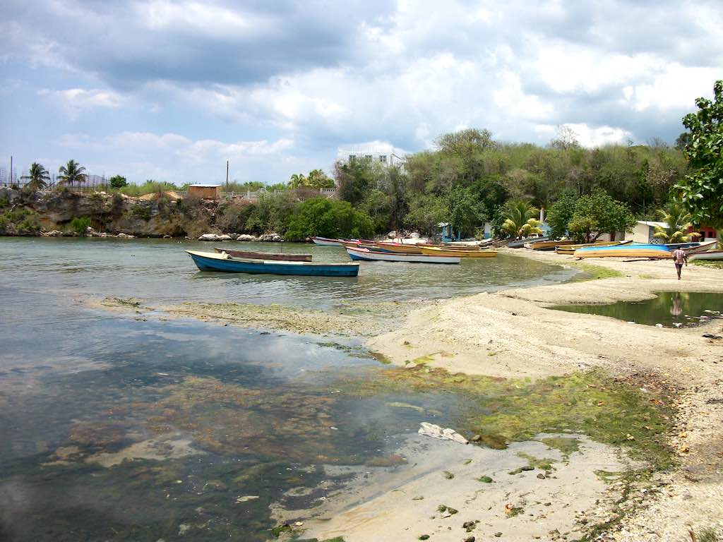 Borders, St. Elizabeth, Jamaica seaside boats