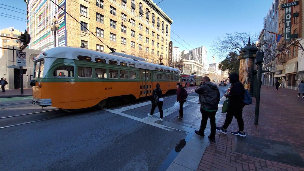 F Tram in San Francisco, California