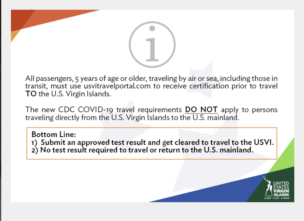 St. Croix Travel Guidelines