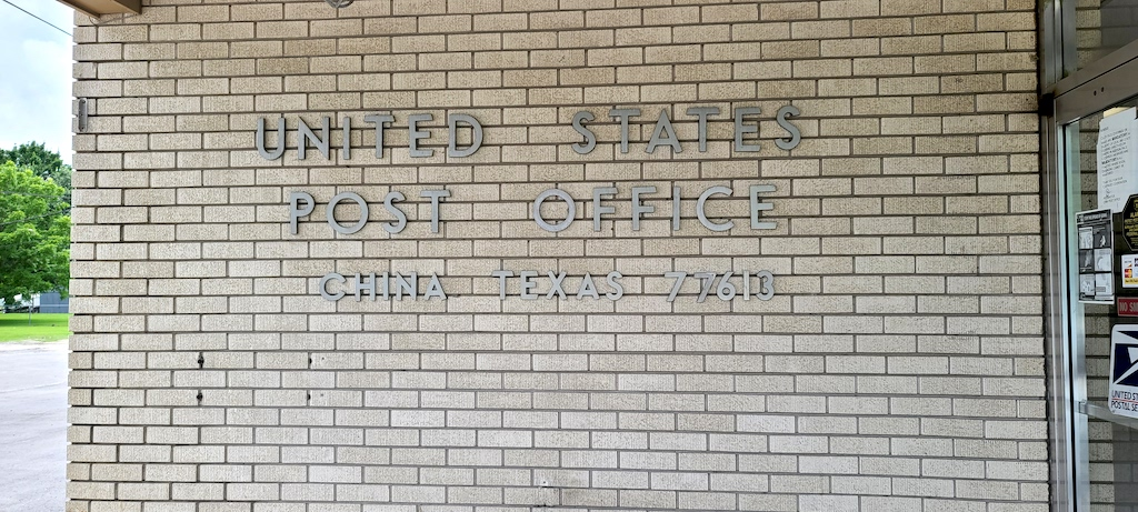 U.S. Post Office in China,Texas
