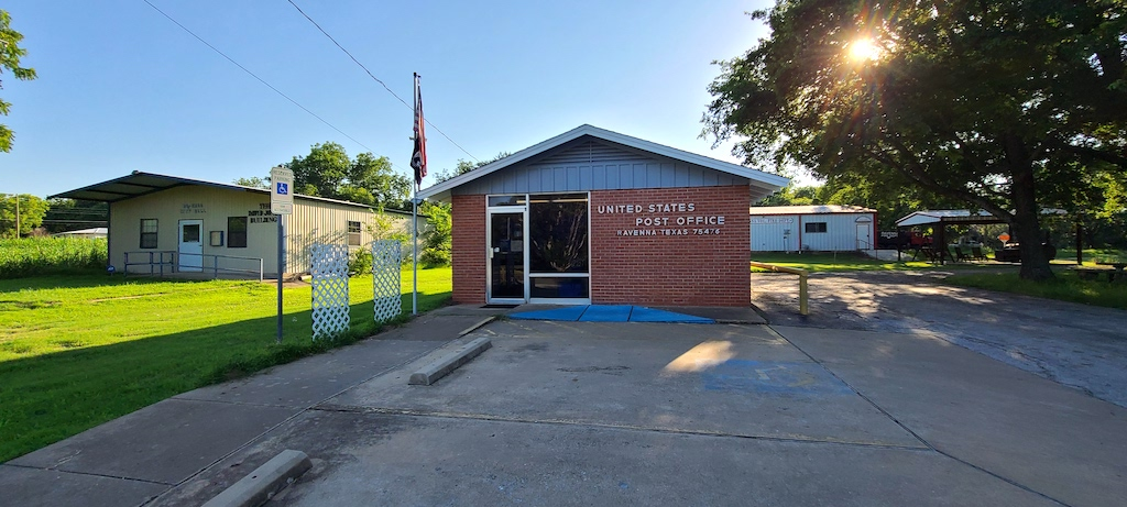 City Hall, Post Office and Fire Station in Ravenna, Texas