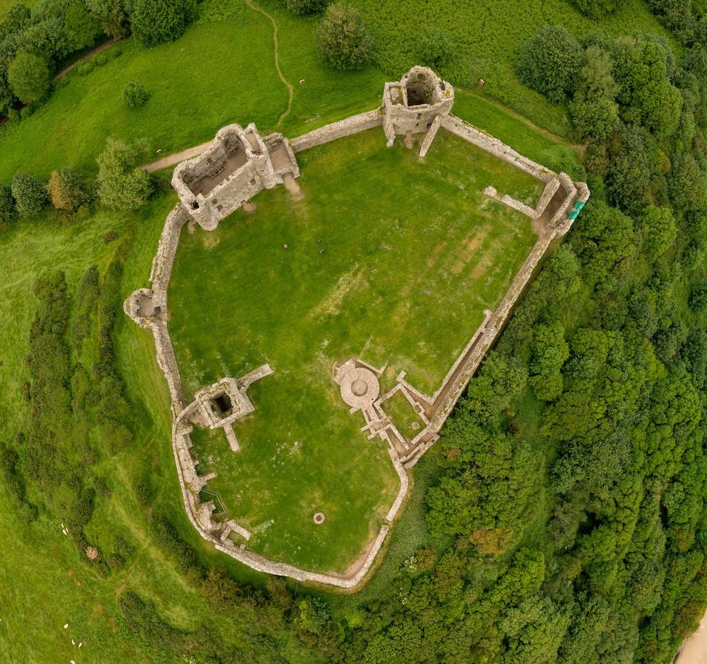 llan Stephan Castle in Wales