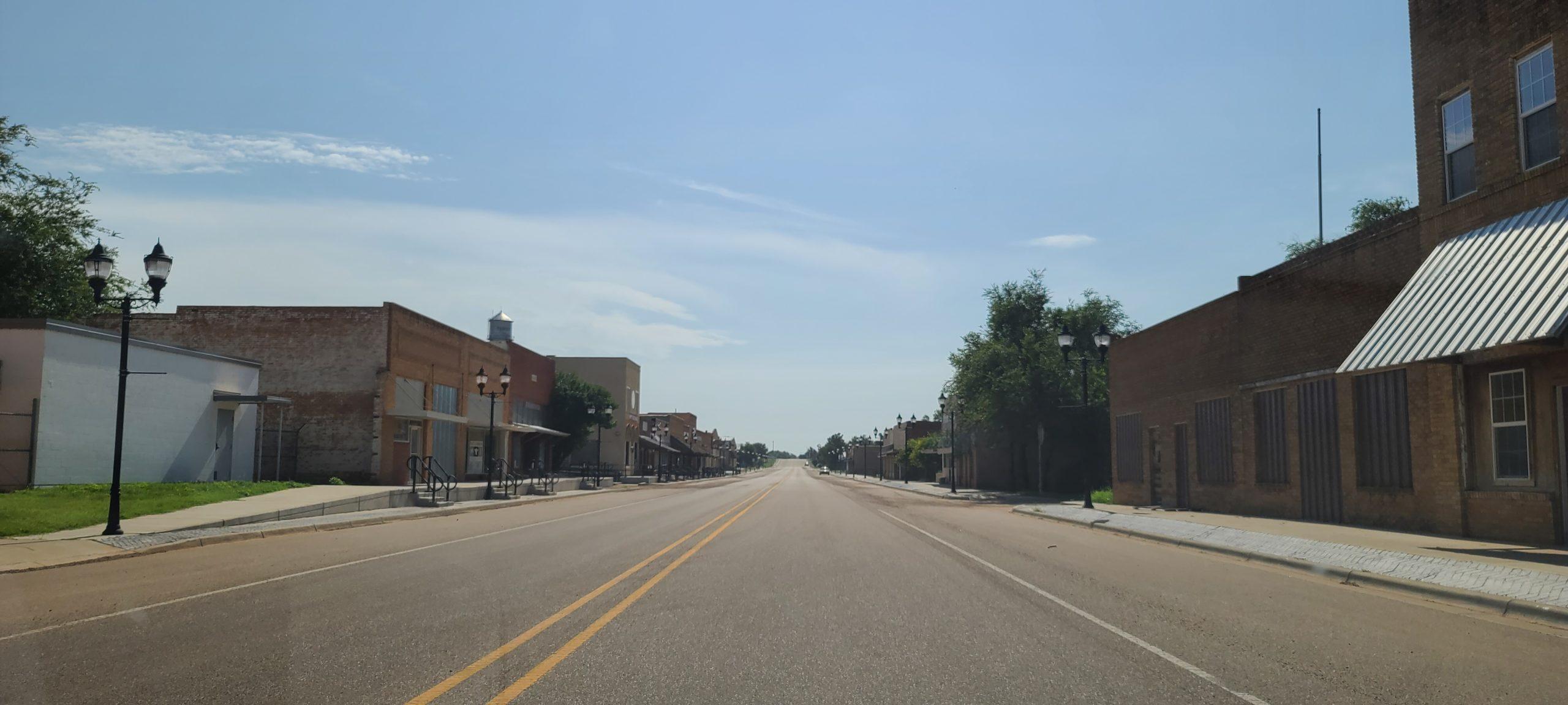 Main street in Turkey, Texas